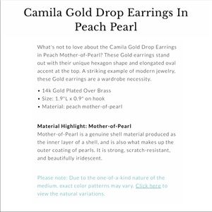 Kendra Scott Jewelry - Kendra Scott Camila Drop Earrings